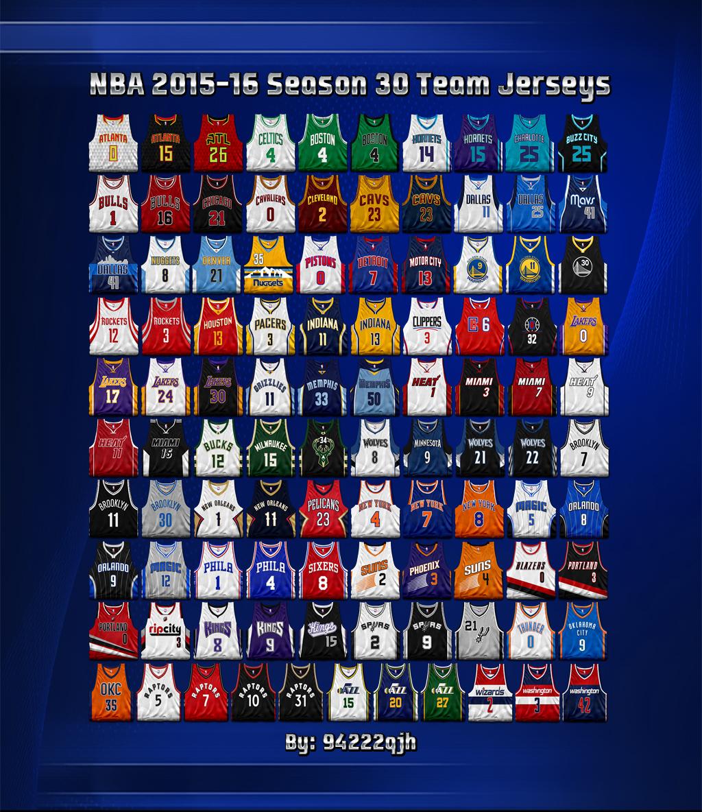 All Team Of The Seasons: NBA 2015/2016 Season 30 Teams