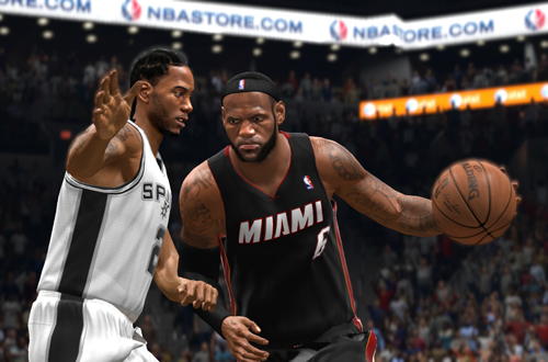 LeBron James vs Kawhi Leonard in NBA Live 14