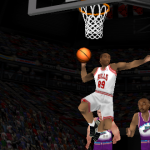 Roster Player dunks the basketball in NBA Live 98