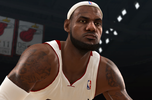 LeBron James in NBA Live 13