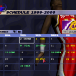 Franchise Mode Schedule in NBA Live 2000
