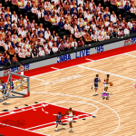 Isometric Camera Angle in NBA Live 95 (Rockets vs Magic)