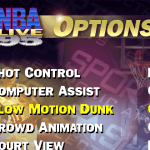Slow Motion Dunks Option in NBA Live 95