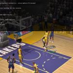 Dev Console in NBA Live 2003