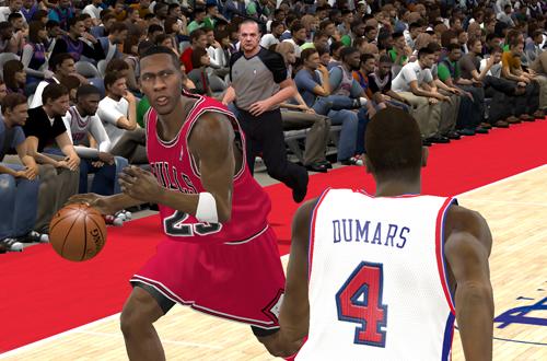 Michael Jordan vs Joe Dumars in NBA 2K11