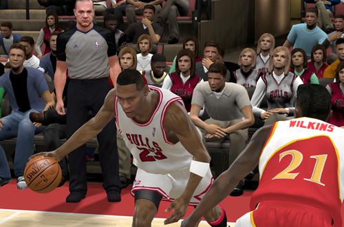 Michael Jordan vs Dominique Wilkins (NBA 2K11)