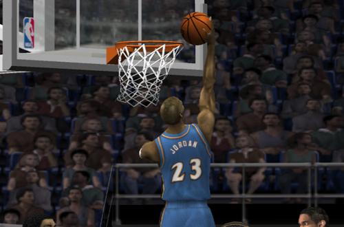 Michael Jordan in NBA Live 2002
