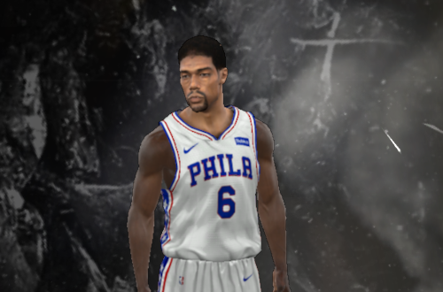 Unused Julius Erving Face in NBA 2K11