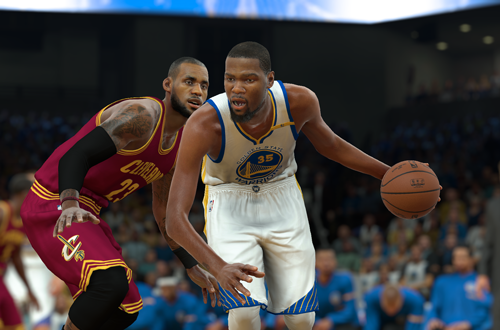 Kevin Durant vs. LeBron James (NBA 2K17)