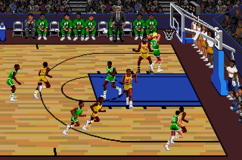 Sega Version of Lakers vs Celtics