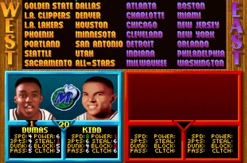 Tony Dumas in NBA Jam Tournament Edition