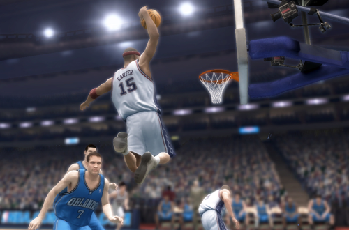 Vince Carter dunking in NBA Live 07 (Xbox 360)