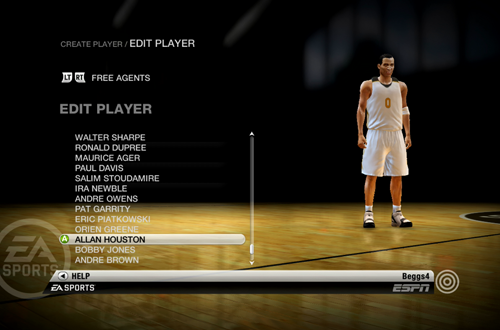 Allan Houston on the Free Agents in NBA Live 10