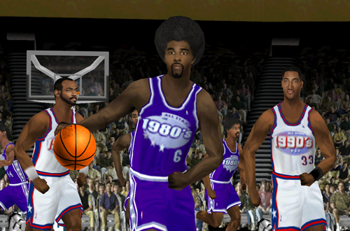 Julius Erving on the 80s All-Stars (NBA Live 2000)
