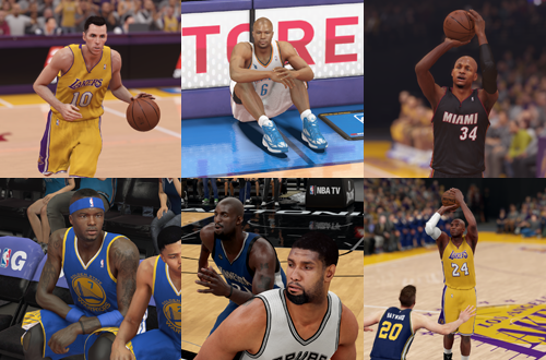 Seven Players with Console & NBA Longevity