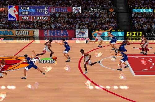 Bulls vs Jazz in NBA ShootOut 98