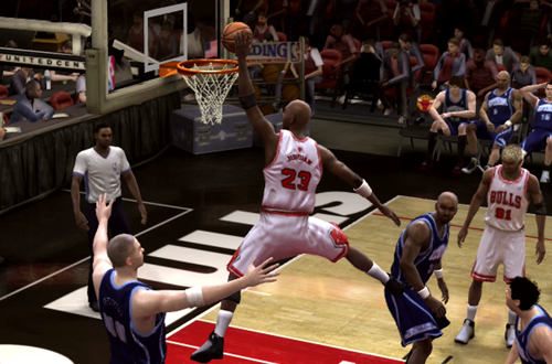 """Created MJ with the """"Jumpman"""" Dunk in NBA Live 08"""