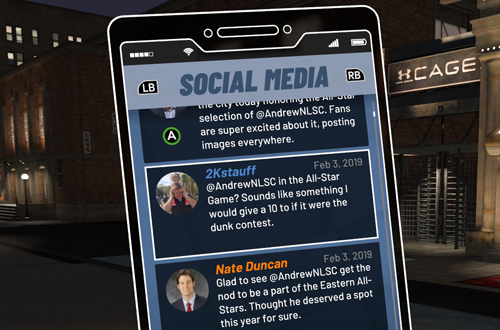 MyCAREER Habits: Checking Twitter (NBA 2K19)