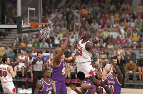 Michael Jordan Dunks in NBA 2K14 PS4