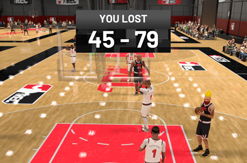 Tough Loss in The Rec (NBA 2K21)