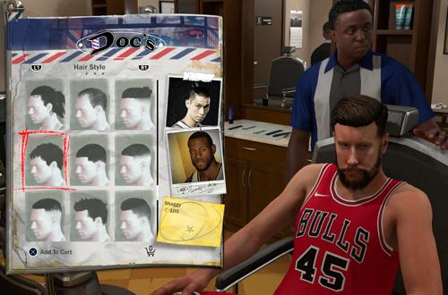 Visiting the Barber in NBA 2K18 MyCAREER