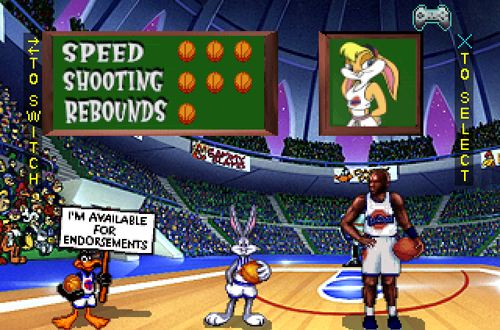 Selecting Players in Space Jam